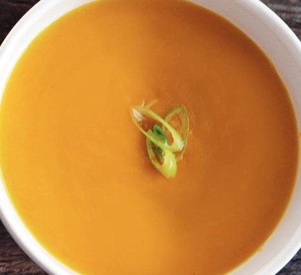 Carrot Soup with Bell Pepper