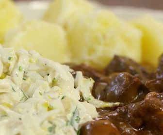 Wild Boar Stew with Chicory